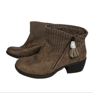 Brand New | B.o.c. Brown zipper boots / booties